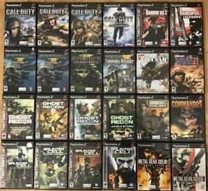 War Shooter games (Playstation 2) Ps2 TESTED