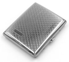 Victorian Style Cigarette Metal Case Double Sided King & 100s Zigzag Pattern