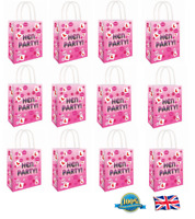 12 x L- HEN PARTY BAG Printed Paper Bag wedding Gift Bag Hen Night Bags