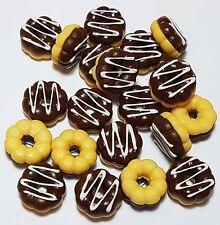 Set of 20 Dollhouse Miniature Chocolate Donuts *Doll Mini Sweet Food Bakery Cake
