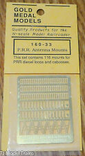 Gold Metal Models #16033 P.R.R. Antenna Mounts (Set Contains 116 Mounts for: