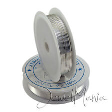 High Quality Silver Plated Round Craft Copper Non Tarnish Wire - 0.4mm to 1mm