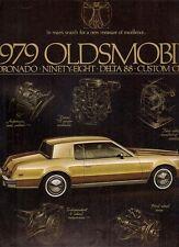 Oldsmobile delta 88 quatre-vingt-dix-huit toronado cruiser 1979 usa market sales brochure