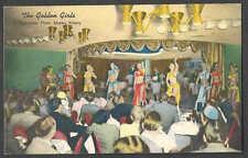 Ca 1943* PPC RENO NV GOLDEN BANK CASINO GOLDEN GIRLS DO SHOWS IN GOLD ROOM
