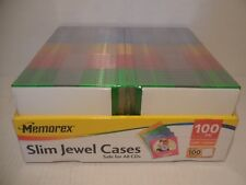 Memorex 100 Slim Jewel Cases 5 Colors 100 Inserts To Make Cds New Never Opened