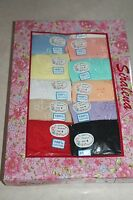 Details about  /Plus Size 7  Women/'s Siralena 12 Pairs Cotton Pretty Colors Multi-Color Briefs