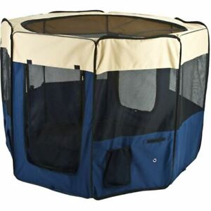 """39"""" x 59"""" Portable Soft-Side Pet Playpen with Removable Mesh Top"""