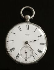 Solid Silver Badollet Pocket Watch  c1880 / montre gousset