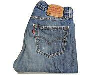 "LEVIS 501 Jeans Straight Leg Blue Denim SIZE W31 L34 Waist 31"" Leg 34"" LEVI 501"