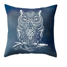 Owl Tattoo Celtic Style Beautiful Square Pillow Cushion Cover.