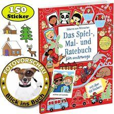 Das bombastische Spielbuch, Wimmelbuch, Malbuch und Ratebuch (mit 150 Sticker!)