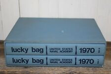 Lucky Bag United States Naval Academy Yearbook 1970 Box Set Vol 1 & 2 Militarty