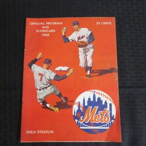1968 New York Mets Program Scorecard vs Giants Willie Mays HR576 Scored