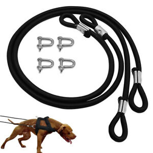 2x Strong Rubber Dog Rope Leash Heavy for Big Large Dogs Weight Pulling Training