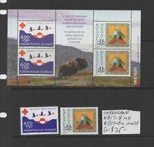 Greenland #B17-8, B17-18a Mnh/Mh Cv $25