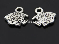 20pc Tibetan Silver Fish Animal Pendant Charms Beads Accessories  PL061