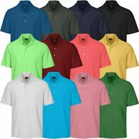 GREG NORMAN GOLF PERFORMANCE PLAY-DRY LB MICRO CORE PIQUE MENS GOLF POLO SHIRT