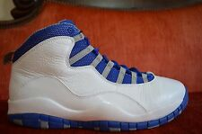 VNDS Nike Air Jordan X 10 Retro 487214-107 Size 11 TXT Old Royal-Stealth Royal