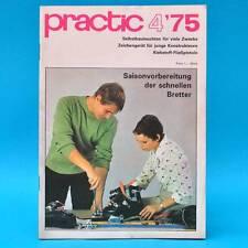 DDR practic 4/1975 Zeichengerät Außenfilter Teppichknüpfen Klebepistole Moped H