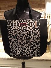 VICTORIA'S SECRET NWT BLACK AND WHITE LEOPARD TOTE PURSE BAG