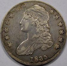 1835 Capped Bust Half Dollar. AU+, Overton 104. Nicely Preserved Strike. Toning+