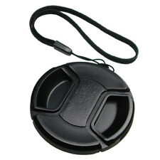 62mm Pro Center Pinch Snap-On Lens Cap with Keeper New