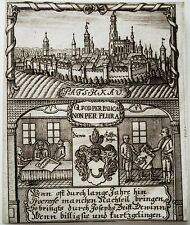 Patschkau paczkow Pologne POSKA RARE cuivre clés zittauisches JOURNAL 1780