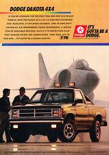 1988 Dodge Dakota 4x4 - Plane - Classic Vintage Advertisement Ad D66