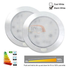 12V LED Interior Ceiling Light Dimmable Caravan Campervan Boat RV Lamp Pack of 2