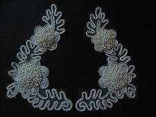 Cream / Ivory Beaded Applique Sewing / Crafts / Victorian / Bridal / Costume