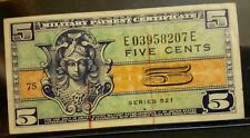 1954-58 5 Cent Military Payment Certificate VF