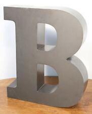 """Large Vintage Letter """"B"""" Sign. Metal Construction Neon. Car Dealer Salvage"""