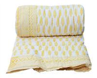 New Indian Cotton Winter Quilt Reversible Coverlet Tree Hand Block Print Blanket