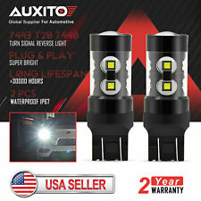 2x AUXITO 7443 Backup Reverse LED Light Bulbs 50W High Power 7440 7444 7441 W21W