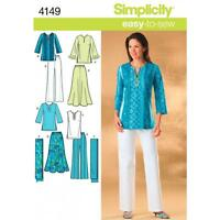 SIMPLICITY SEWING PATTERN Misses Plus Size Skirt Pants Tunic Top Pants 4149 SALE