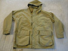 Men's Tan WOOLRICH Hooded GORETEX Hiking Outdoors Coat Jacket Parka (L) NC7