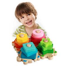 Wooden Educational Preschool Toddler Kids Toys Geometric Board Blocks Puzzle Z