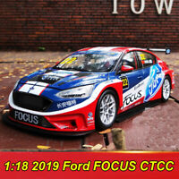 1:18 Scale 2019 Ford FOCUS CTCC Racing Model Diecast Model Car Collection W/Case