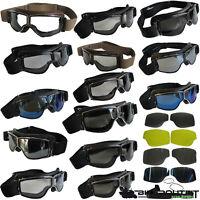 AVIATOR Biker Brille T2 / T3 Motorradbrille Fliegerbrille Retro bzw. Ersatzteile