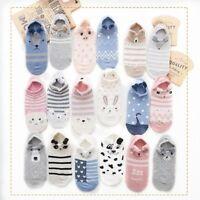 Cartoon Cotton Women Animal Cat Socks No Show Non-slip Invisible Sock Slipper