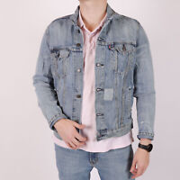 Levi's Patched Upcycled hellblau Herren Denim Trucker Jacket Größe M