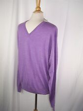 Peter Millar Purple V-Neck Sweater Merino Wool Men's S Small NWT