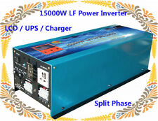 "15000W LF Split Phase 24VDC/110V,220V AC 60Hz Power Inverter 3.5""LCD/UPS/Charger"