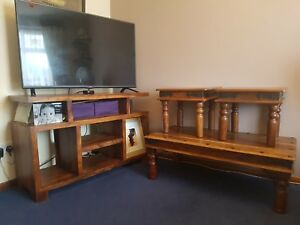 solid wood furniture set, in good condition.