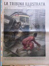 La Tribuna Illustrata 30 Gennaio 1927 Seagrave Record Terremoto Albania Isonzo