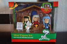 Peanuts Mini Figure Set Fold-Out Christmas Nativity Play Stage