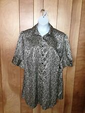 WOMEN'S LANE BRYANT BUTTON-DOWN TOP-SIZE: 18/20