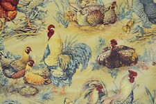 4 yards Pierre Frey Paris La Basse Cour High-end French Chickens fabric