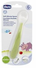 CHICCO 0% BPA BABY SOFT SILICONE GREEN SPOON 6M+
