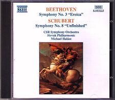 Beethoven Filarmonica n. 3 eroica Schubert Symphony 8 Unfinished Michael Halasz CD